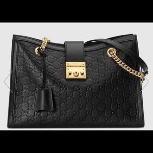 Gucci Signature Medium Padlock Handbag